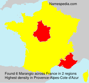 Surname Marangio in France