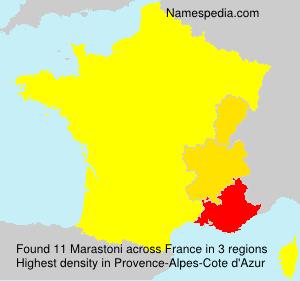 Surname Marastoni in France