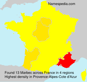 Surname Marbec in France