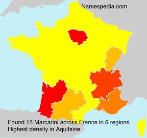 Surname Marcarini in France