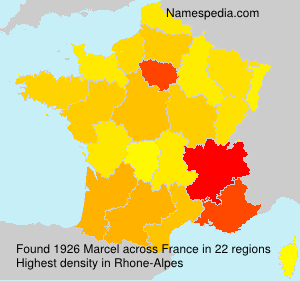Familiennamen Marcel - France
