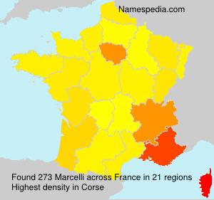 Surname Marcelli in France