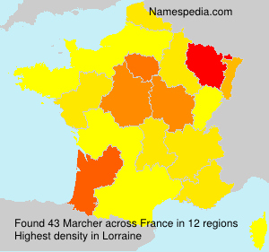 Surname Marcher in France