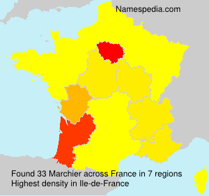 Surname Marchier in France