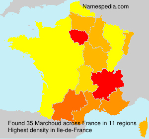 Surname Marchoud in France