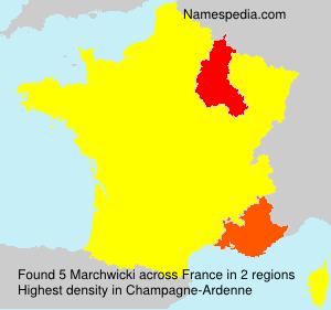Surname Marchwicki in France