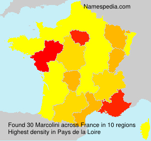Surname Marcolini in France