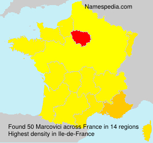 Surname Marcovici in France