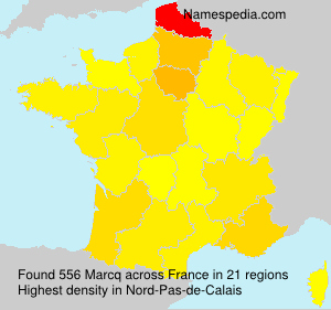 Surname Marcq in France