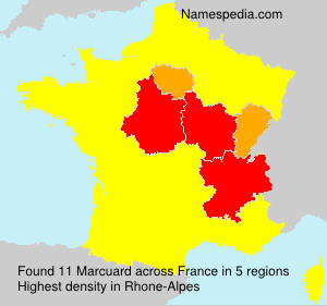 Surname Marcuard in France