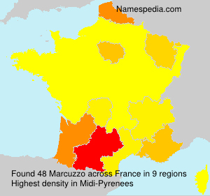 Surname Marcuzzo in France