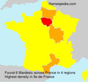 Surname Mardesic in France
