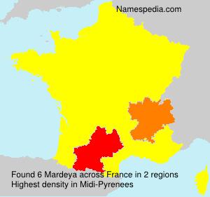 Surname Mardeya in France