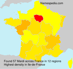 Surname Mardi in France