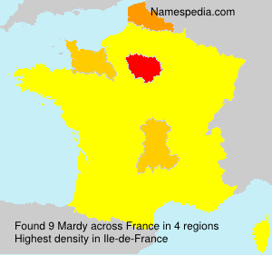 Surname Mardy in France