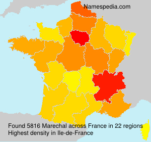 Surname Marechal in France