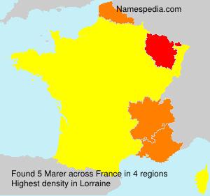 Surname Marer in France
