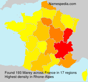 Surname Marey in France