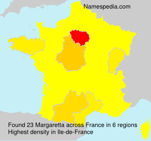 Surname Margaretta in France