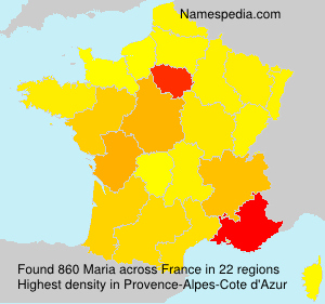 Surname Maria in France
