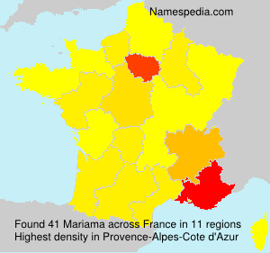 Surname Mariama in France