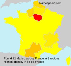 Familiennamen Marico - France