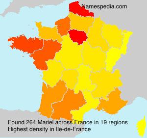 Surname Mariel in France