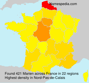 Surname Marien in France