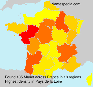 Surname Mariet in France