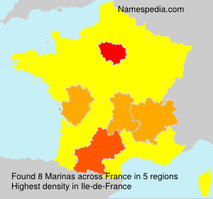 Surname Marinas in France