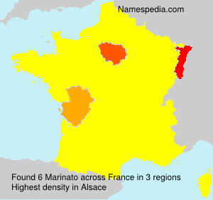 Surname Marinato in France