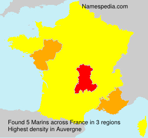 Surname Marins in France