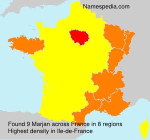 Familiennamen Marjan - France