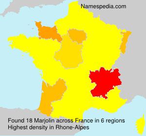 Surname Marjolin in France