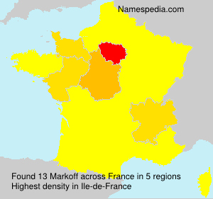 Familiennamen Markoff - France