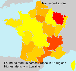 Surname Markus in France