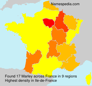 Surname Marley in France