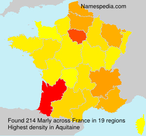 Surname Marly in France