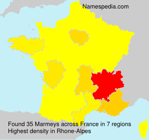 Surname Marmeys in France