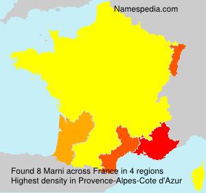 Surname Marni in France