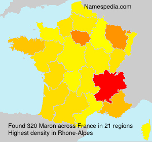 Surname Maron in France