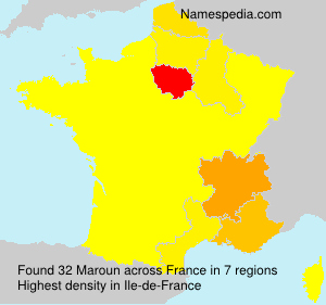 Surname Maroun in France