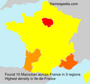 Surname Maroutian in France