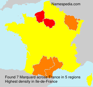 Surname Marquard in France