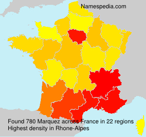 Surname Marquez in France