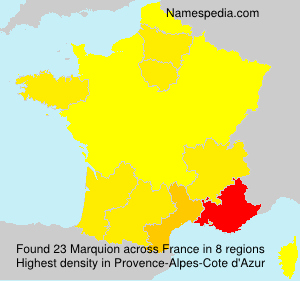 Surname Marquion in France