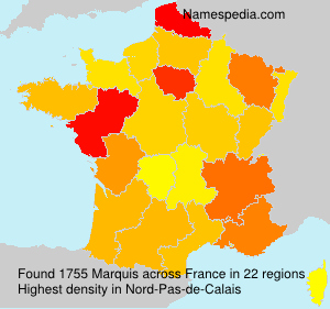 Surname Marquis in France