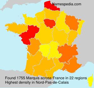 Familiennamen Marquis - France