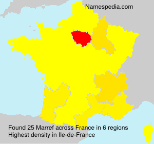 Surname Marref in France