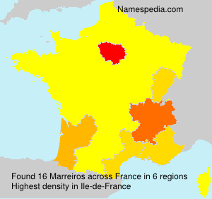 Surname Marreiros in France